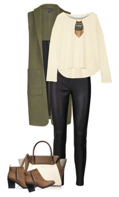 """Untitled #2679"" by carmelaromio ❤ liked on Polyvore featuring Topshop, Vince Camuto, H&M, Kain and Leslie Danzis"