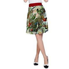 Hummingbirds Pitter Patter A-Line Skirt.  Use code SALE35OFF to save 35% and code GETIT for free shipping and/or additional discounts on skirts and dresses!