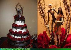 AMAZING Nightmare Before Christmas wedding cake!