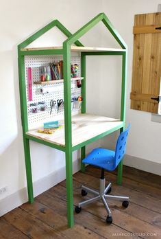 Build A Modern House Shaped Desk Perfect For Kids And Adults Its Week 3 Of
