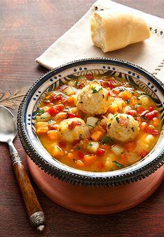 Sopa de Vegetales con Albondigas de Pavo y Arroz