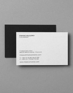Xavier Encinas | business card for men's fashion label Pierce Paris