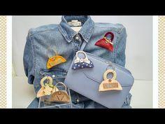 """""""Mini Bag"""": portachiavi o spilla in feltro semplice & senza cucire - YouTube"""