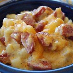 Jolean's Cheese Potato & Smoked Sausage Casserole - maybe add brocolli?