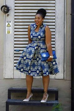 bluesss and shoessss....Bow Afrika Fashion
