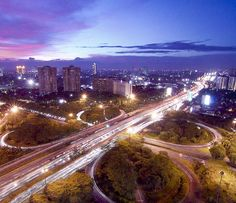Jembatan Semanggi, Jakarta - Indonesia @ night.