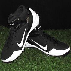 Nike Air Huarache 2K Fresh MCS Baseball Cleats Mens Size 11.5 Black/White #Nike #Cleats