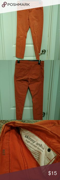 *FINAL PRICE* Mango Orange Skinny Jeans Like new. Skinny jeans! Jeans Skinny