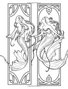 Best Mermaid Coloring Pages & Coloring Books – Selina Fenech Coloring Mermaid Drawings, Mermaid Tattoos, Mermaid Art, Art Drawings, Mermaid Paintings, Vintage Mermaid, Manga Mermaid, Mermaid Coloring Pages, Colouring Pages