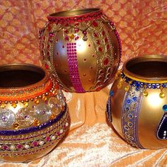 Mehndi money pots. See my Facebook page www.facebook.com/mehnditraysforfun