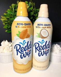 Reddi-Wip's New Coconut Milk Whipped Cream Is a Dairy-Free Dream Come True - Lactose Free Diet Lactose Free Diet, Lactose Free Recipes, Vegan Gluten Free, Vegan Recipes, Vegan Sweets, Vegan Desserts, Dairy Free Desserts, Dairy Free Meals, Sin Gluten