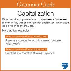 Capitalization: names of seasons