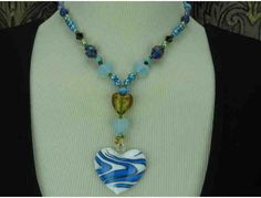 1/KIND Romantic and Colorful Heart Necklace!