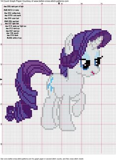 Free Rarity Pattern for Hama Perler Beads or Cross Stitch