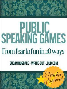This blog post outline start-up guidelines and 10 activities to build students' public speaking skills.
