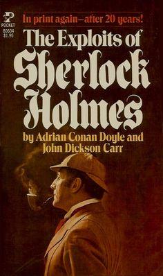 Sherlock Holmes and Dr. Watson embark on twelve new detective adventures penned by Adrian Conan Doyle and John Dickson Carr. Detective Sherlock Holmes, Adventures Of Sherlock Holmes, Sherlock Bbc, Crime Fiction, Fiction Writing, Fiction Novels, Arthur Conan Doyle, Sir Arthur, Holmes Movie