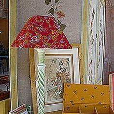 Faire soi-même son abat jour (carcasse et habillage) Make A Lampshade, Lampshades, Luminaire Original, Canal E, Decoration, Free Printables, Projects To Try, Arts And Crafts, Lights