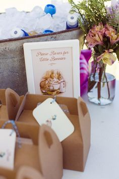 Stationery + Gable Lunch Boxes from a Peter Rabbit 1st Birthday Party via Kara's Party Ideas | KarasPartyIdeas.com (12)