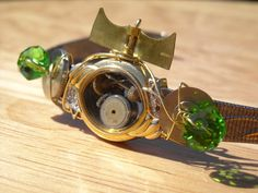 Steampunk BraceletWrist Watch by DesignbyTalarico on Etsy, $40.00
