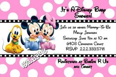 Disney Babies Baby Shower Invitations ANY COLOR SCHEME - Get these invitations RIGHT NOW. Design yourself online, download and print IMMEDIATELY! Or choose my printing services. No software download is required. Free to try!