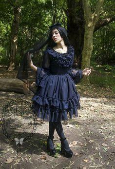 Hey, I found this really awesome Etsy listing at https://www.etsy.com/uk/listing/245821560/gothc-lolita-chiffon-jumper-dress-lolita
