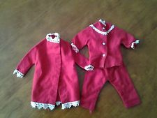 Vintage Sindy Doll outfit - Cosy Nights pyjamas & matching dressing gown.