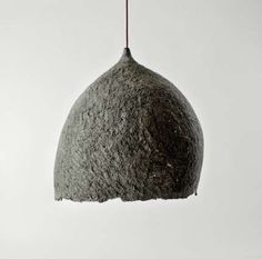 Recycled Newspaper Lights : Pendant Lamps