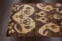 Rugs USA Aguada Herman Ikat Hemp Hand Knotted Brown Rug. Rugs USA Labor Day Sale up to 80% Off! Area rug, rug, carpet, design, style, home decor, interior design, pattern, trends, home, statement, fall, cozy, sale, discount, interiors, house, free shipping.
