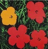 Andy Warhol - FLOWERS, 1964, fluorescent paint and...
