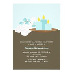 ReviewSpa Bridal Shower {aqua} Custom Invitationsonline after you search a lot for where to buy