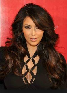 Black Hair Brown Highlights
