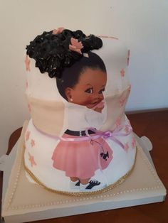 The Best Cake With Mastic for Children's Birthday Pretty Cakes, Beautiful Cakes, Amazing Cakes, Unique Cakes, Creative Cakes, Baby Girl Cakes, Couture Cakes, Birthday Cake Girls, Birthday Cakes