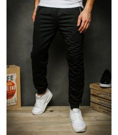 Čierne pánske teplákové nohavice Camouflage, Parachute Pants, Calvin Klein, Sweatpants, Adidas, Nike, Products, Fashion, Moda