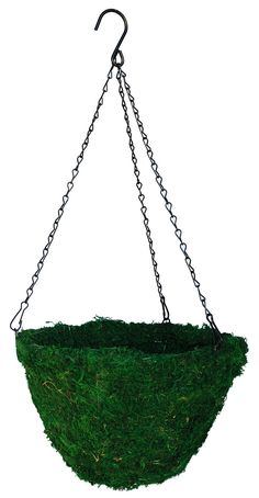 "Green Moss Hanging Basket - 14"" inside diameter"