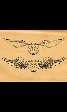 Golden snitch harry potter tattoo More