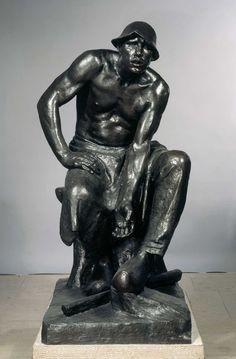 CONSTANTIN MEUNIER, The Puddler, 1884 / 1887-1888, bronze. Royal Museums of Fine Arts of Belgium, Brussels inv. 3066