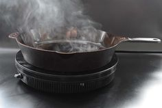 During a conversation about his new cast-iron skillet, Isaac Morton told me I've been seasoning my cast-iron skillets wrong.According to Morton, founder and President of the Charleston, South … Dutch Oven Cooking, Cast Iron Cooking, Cooking Wine, Kitchen Fan, Kitchen Tips, Kitchen Gadgets, Cooking Gadgets, Cooking Tools, Cooking Recipes