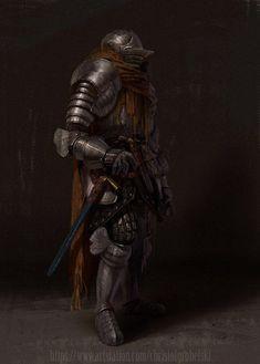m Fighter Plate Armor Helm Cloak Longsword Dagger male undercity urban City underdark eastern border lg Medieval Armor, Medieval Fantasy, Fantasy Armor, Dark Fantasy, Fantasy Character Design, Character Art, Character Inspiration, Dark Souls Art, Armadura Medieval