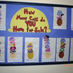 """Idea for a learning activity after reading """"caps for sale"""" to kindergarten. Could be used for part-part-whole math activity to find out how many combinations of hats the main character can wear. Creative Curriculum Preschool, Preschool Books, Preschool Themes, Preschool Lessons, Preschool Classroom, Classroom Activities, Classroom Ideas, Kindergarten Reading, Kindergarten Activities"""