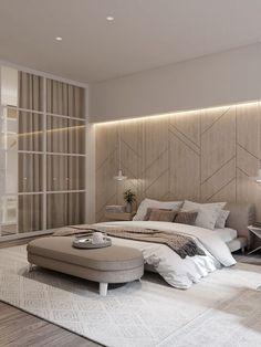 📌 Modern Bedroom Inspiration or Bedroom Design Ideas « ANIPO Modern Luxury Bedroom, Luxury Bedroom Design, Master Bedroom Interior, Modern Master Bedroom, Room Design Bedroom, Bedroom Furniture Design, Home Room Design, Luxurious Bedrooms, Home Decor Bedroom