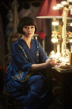 Chinese silk robe ~ Essie Davis as Phryne Fisher