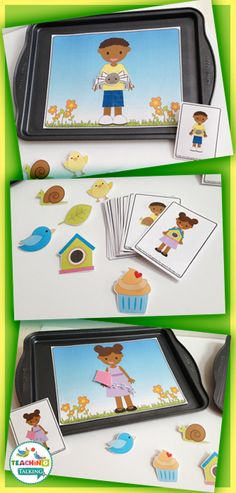 Try these activities to target early language concepts. Pronouns, Verbs & Prepositions for Spring make Speech Therapy fun!