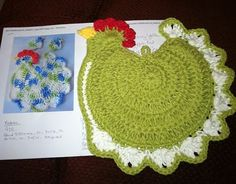 This crocheted hotpad would be a great gift for my poultry loving friends. :)