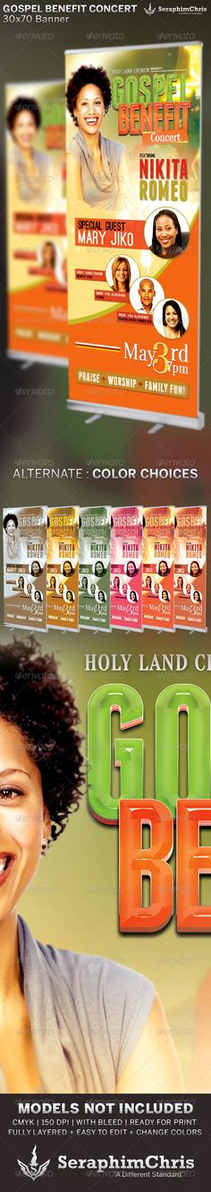Modern Gospel Concert Church Flyer Template  Gospel Concert