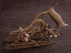 Full Size MILLERS PATENT NO. 50 Plow Plane by PAUL HAMLER Number 107 of 500 Woodworking Hand Planes, Antique Woodworking Tools, Antique Tools, Vintage Tools, Woodworking Crafts, All Tools, Knives And Tools, Diy Projects Tools, Woodworking For Mere Mortals
