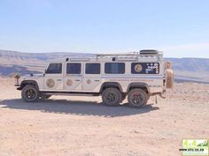 LandRover Stretch limo of the desert