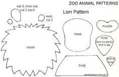 Zoo Animal Free Paper Piecing Patterns - Lion Paper Piecing Pattern