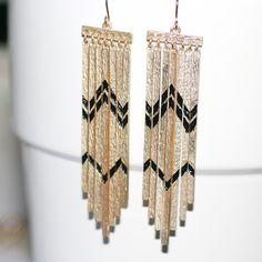 Chevron earrings. GREAT accessories website!