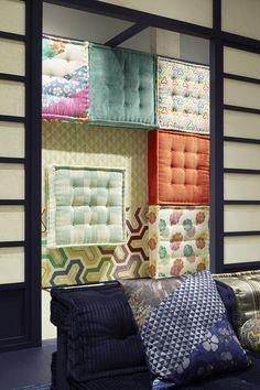 "Roche Bobois | Mah Jong sofa ""dressed"" by Kenzo Takada | Designed by Hans Hopfer | Autumn-Winter 2017/18 Collection"