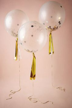 Confetti filled balloons? YES, please!
